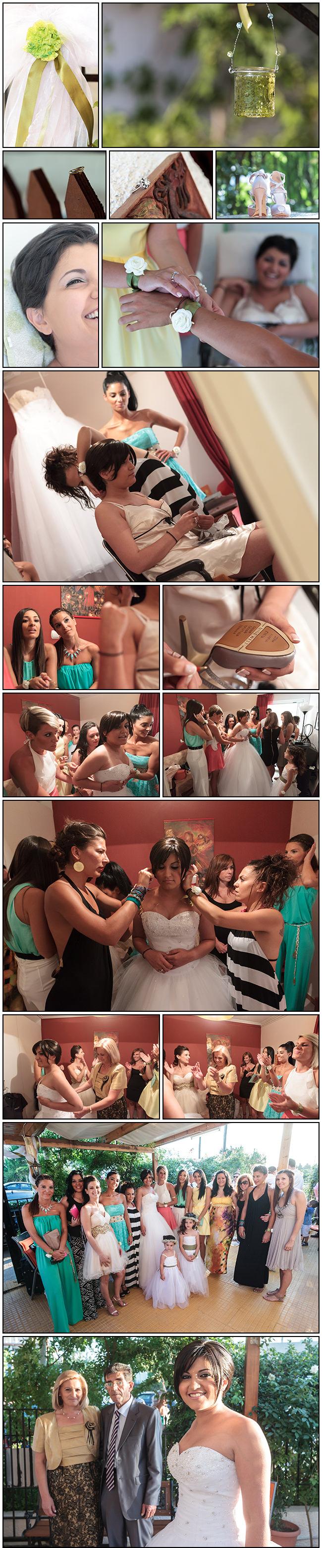 Sofia-Kostas Isthmia wedding - Sofia getting ready photos