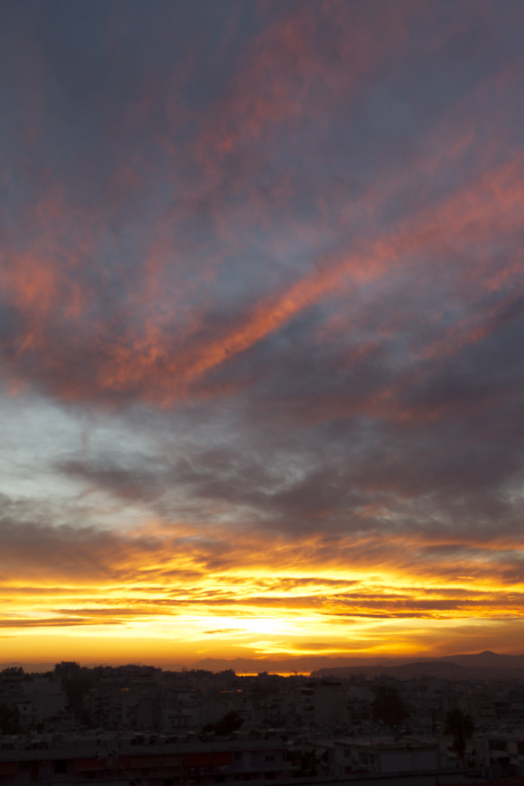 Athens sunset 11 January 2015