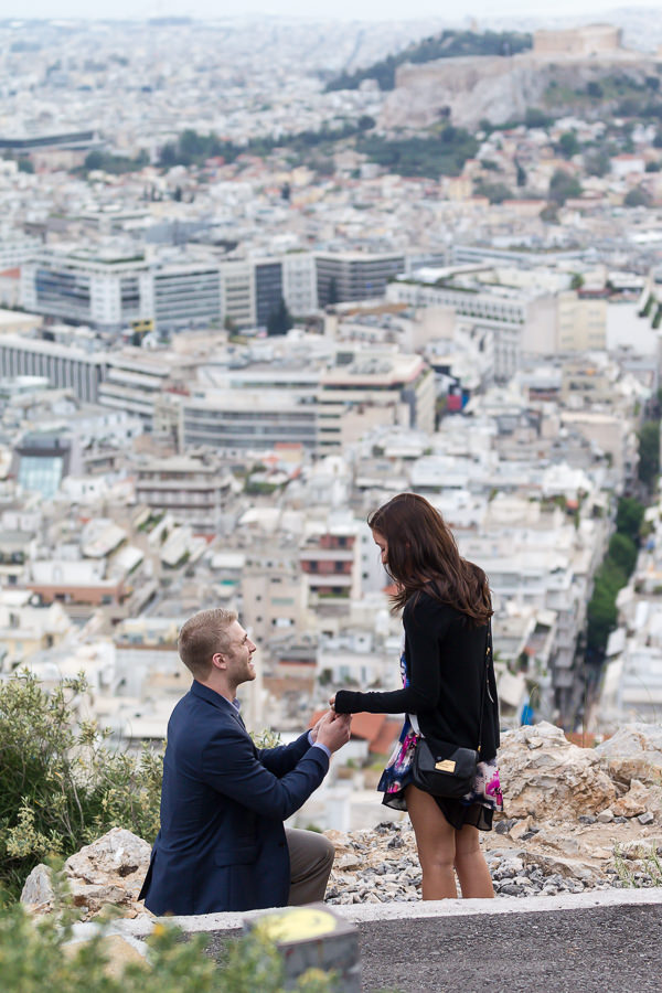 Surprise proposal Athens Greece