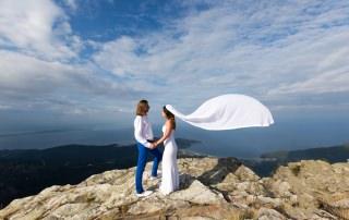 Wedding couple ceremony at Ypsario, Thassos