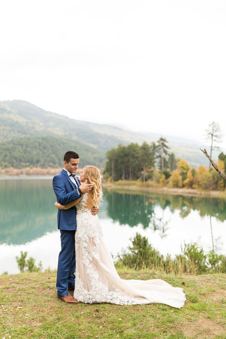 Lake Doxa Photo Shoot Wedding couple