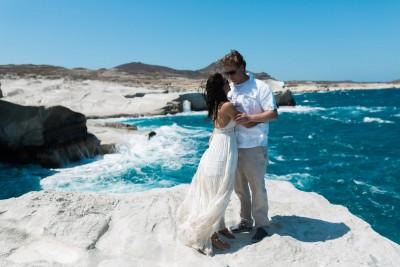 Intimate Elopement in Milos