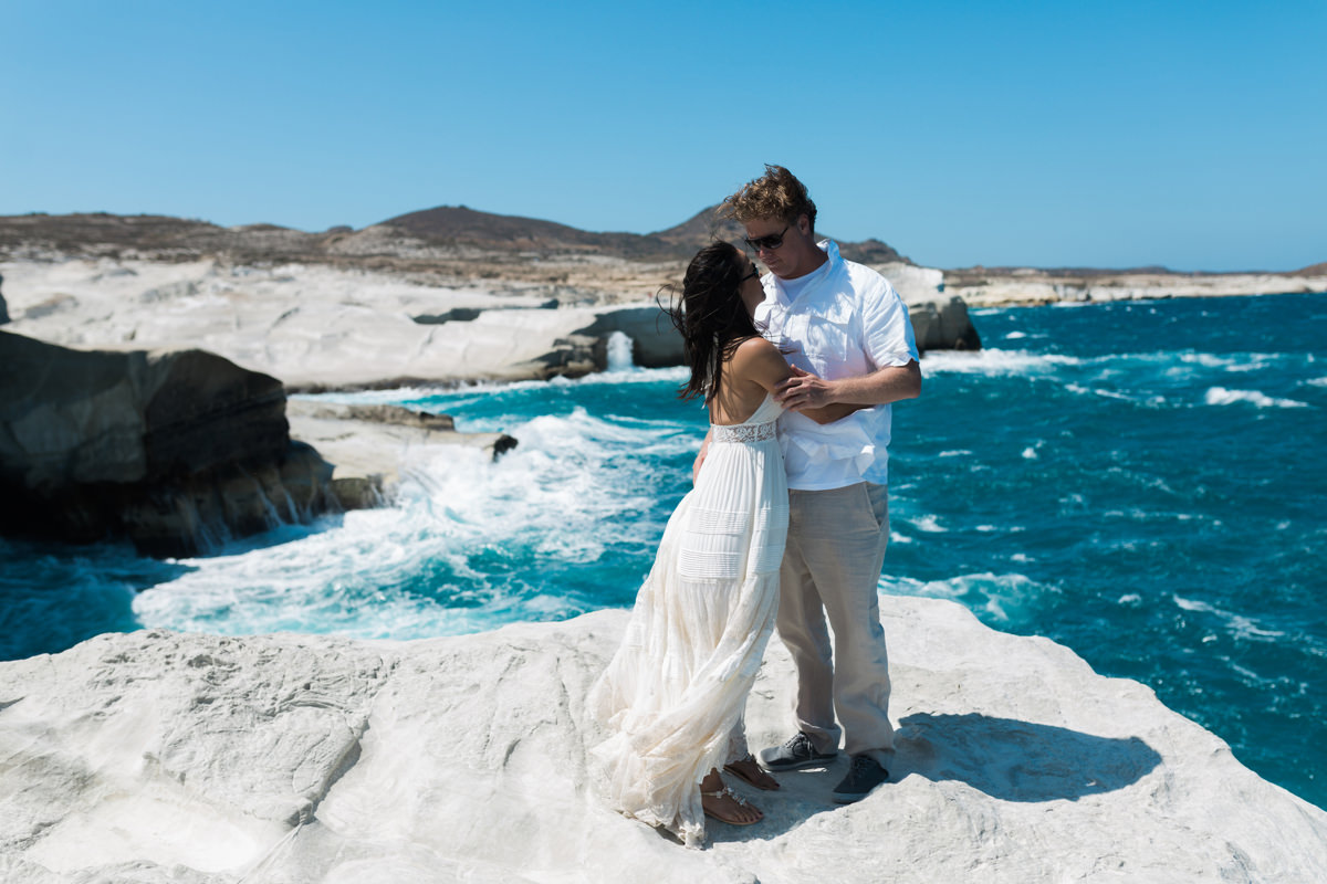Intimate Elopement in Milos