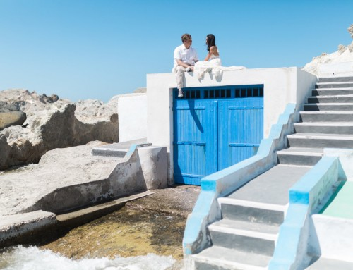 Tristan + Jennifer | Intimate Grecian elopement in Milos, Greece