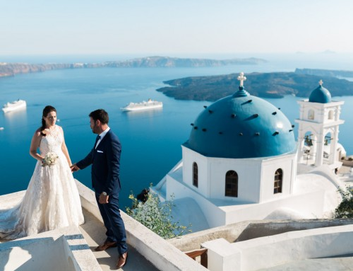 Pavlos + Dora | Athens wedding, Santorini next day photo shoot