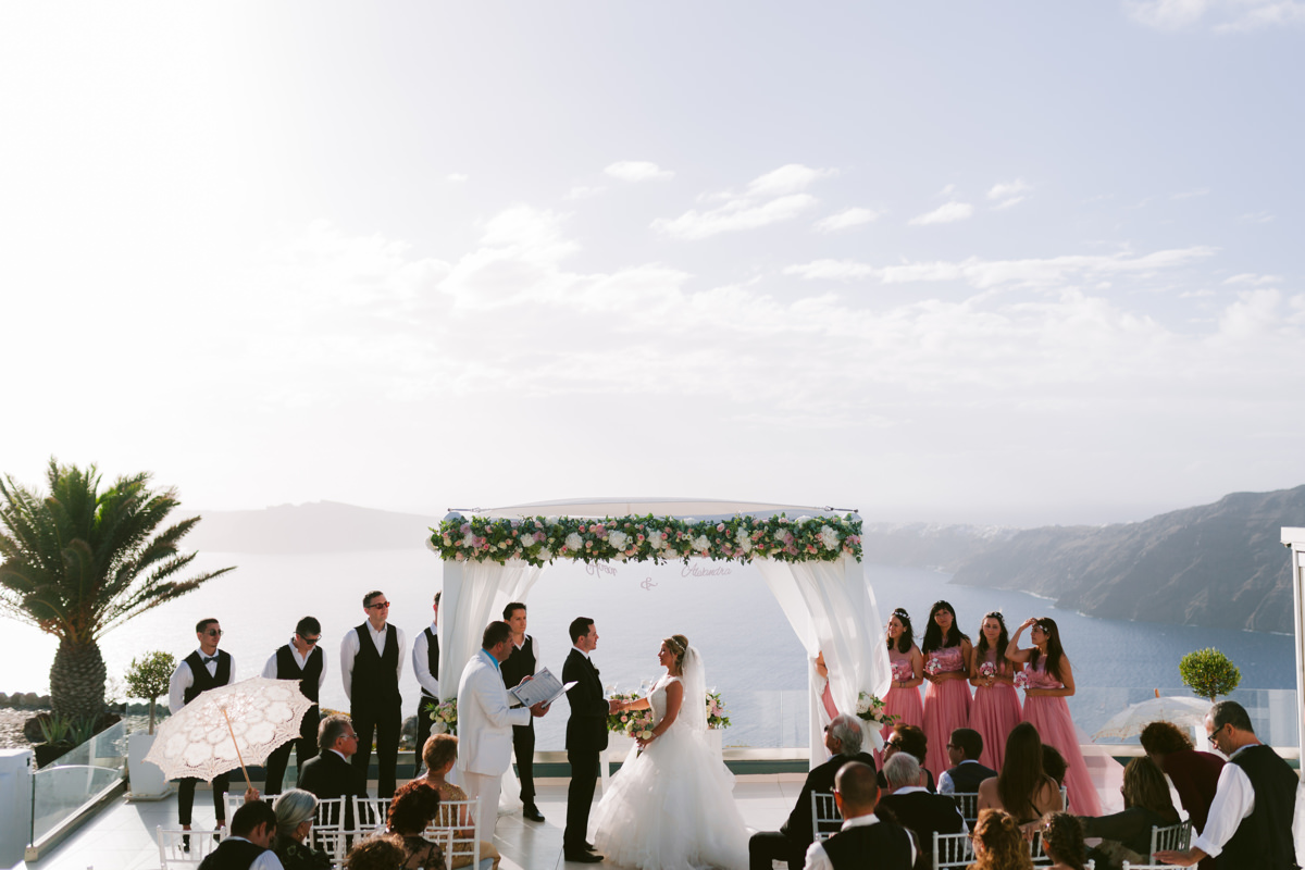 Le Ciel Wedding Venue Santorini Photographer