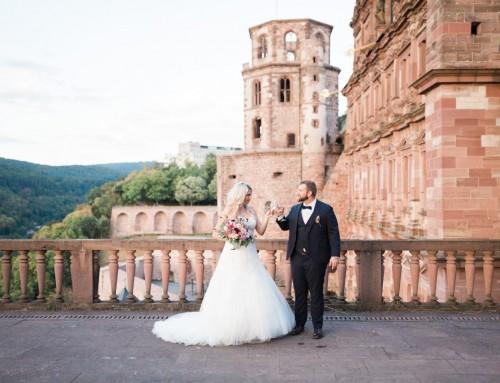 Winter + Cordula Heidelberg Castle wedding