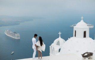 Surprise Proposal in Santorini