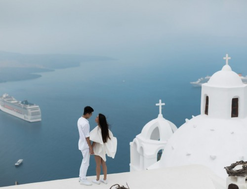 Santorini Suprise Proposal for Chen and Sandy