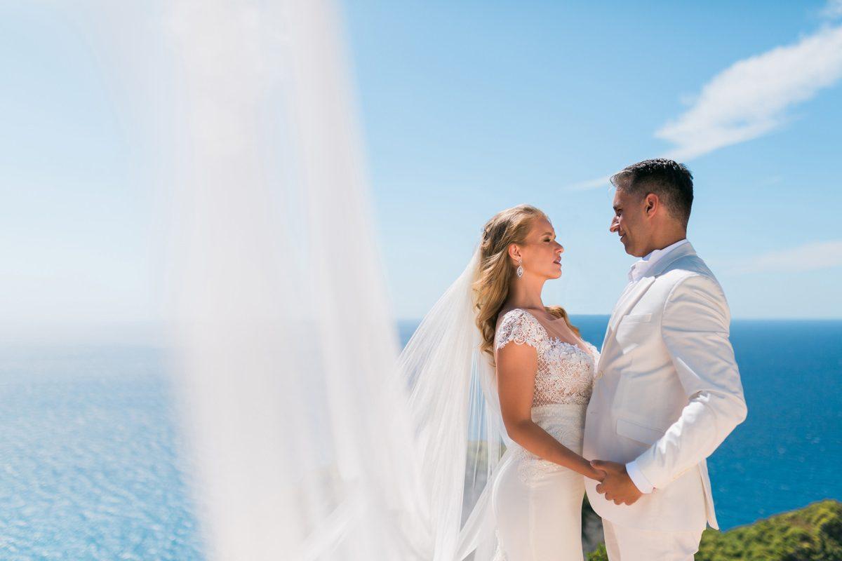 Zakynthos elopement overlooking Navagio bay
