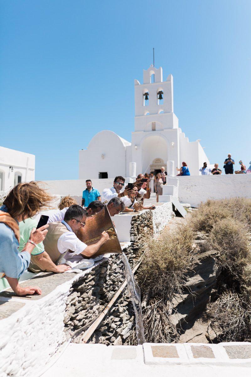 Eleni's baptism in Sifnos