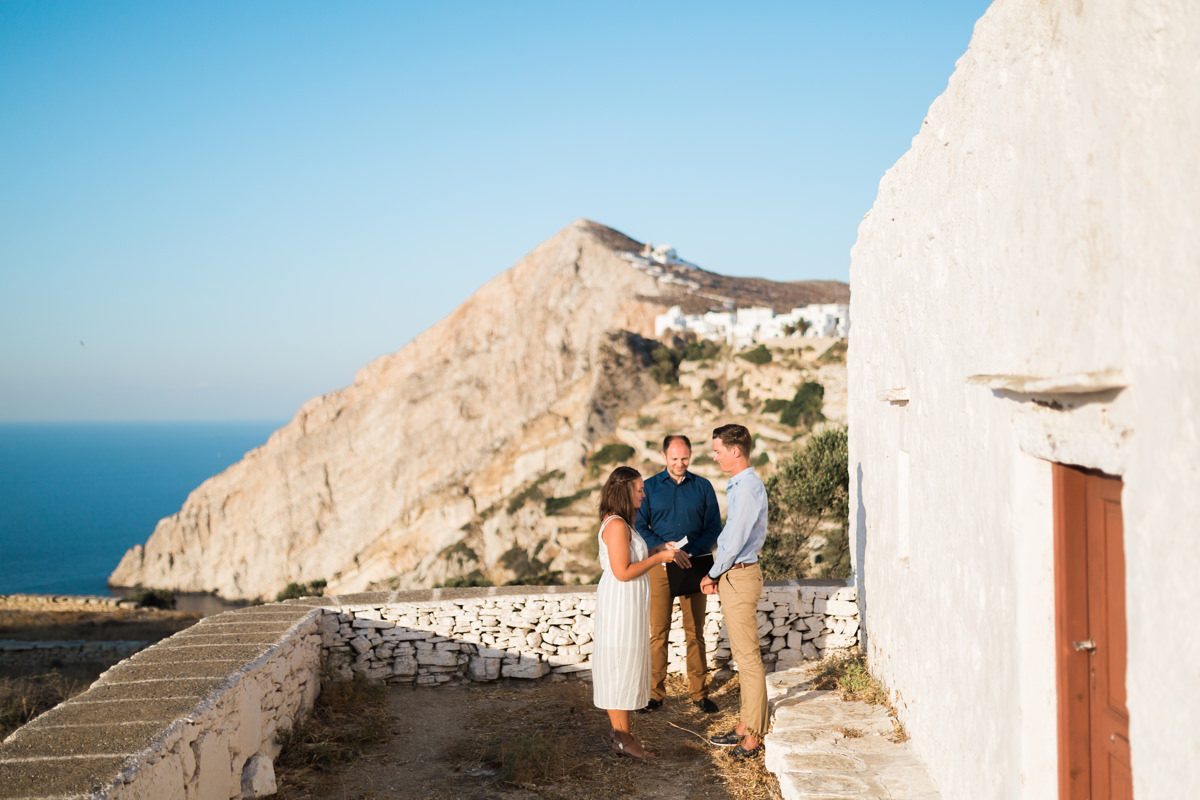 Folegandros island elopement