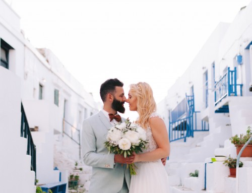Romantic Stylish Wedding in Folegandros | Alessandro + Elisabetta