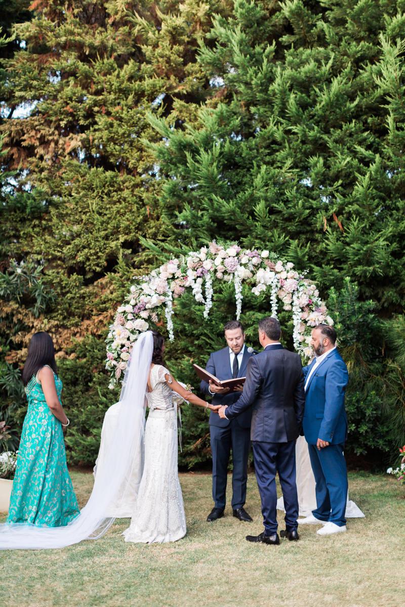 Evia wedding villa ceremony