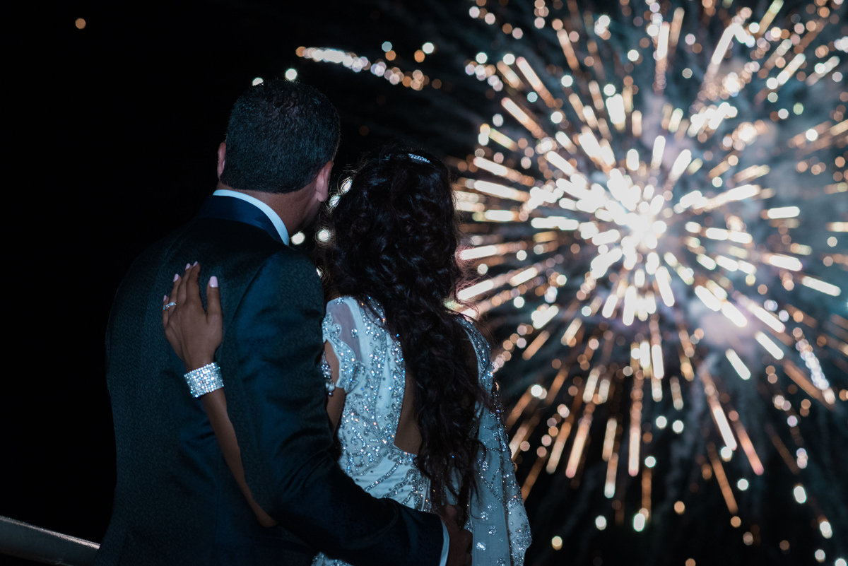 Evia wedding | Fireworks at The Marble Resort