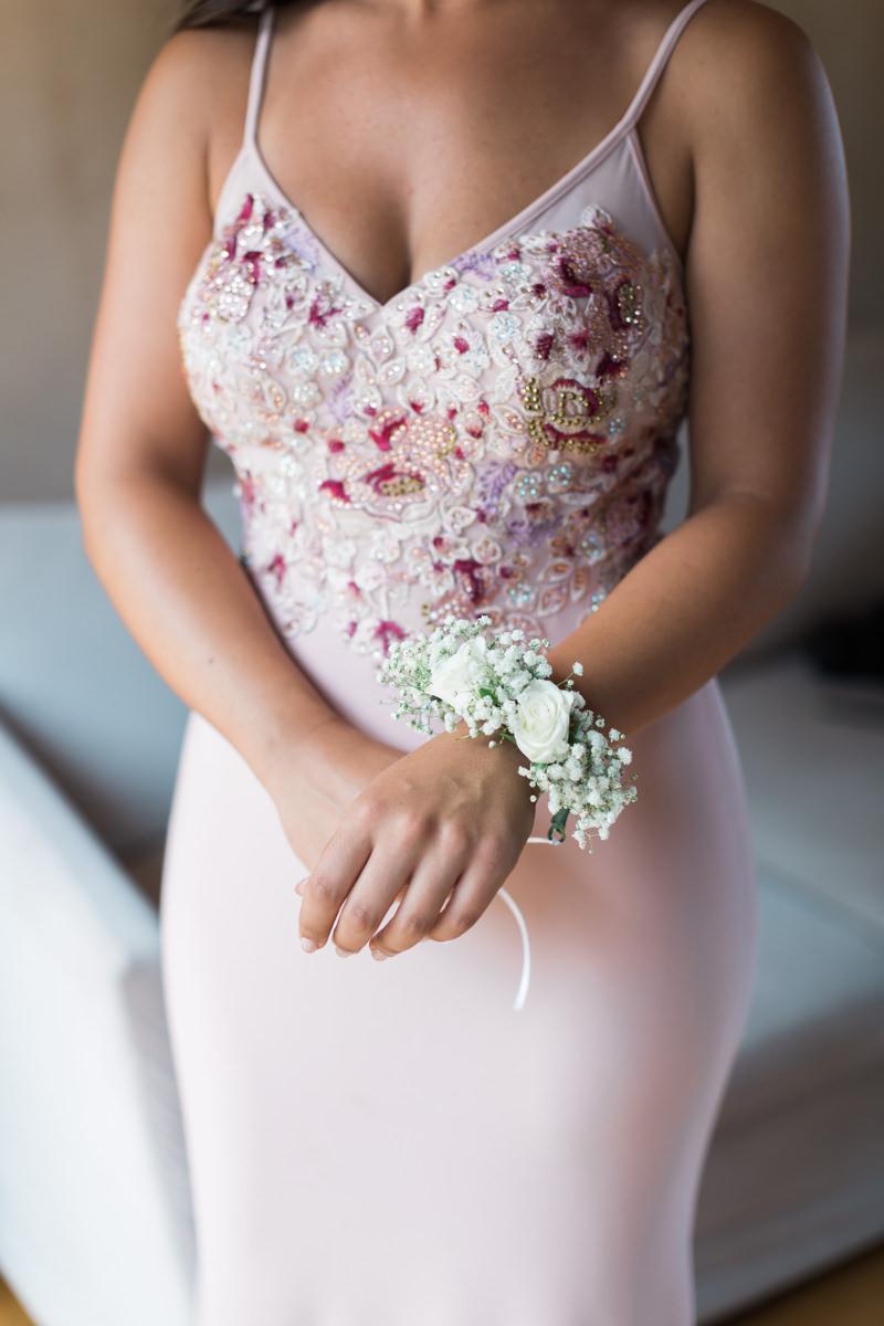 Athens Riviera Island wedding bridesmaid