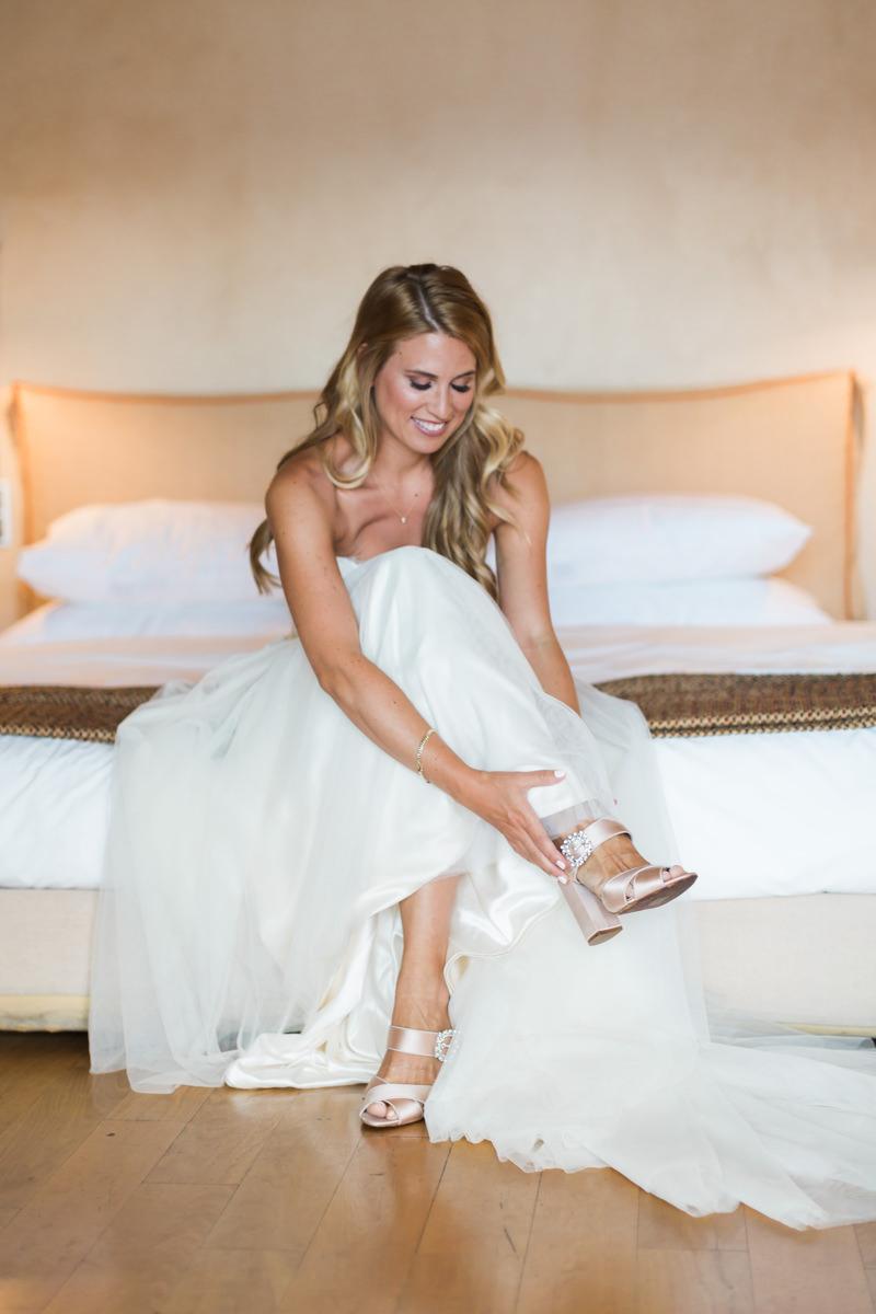 Athens Riviera Island wedding bride getting ready