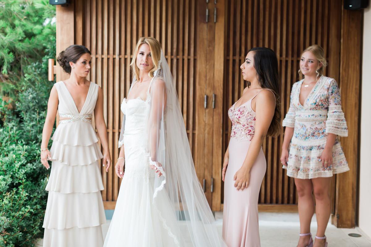 Athens Riviera Island wedding bridesmaids