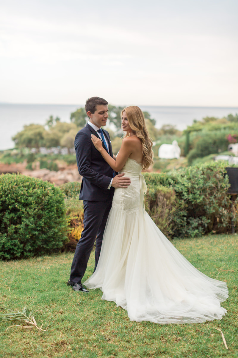 Athens Riviera Island wedding couple